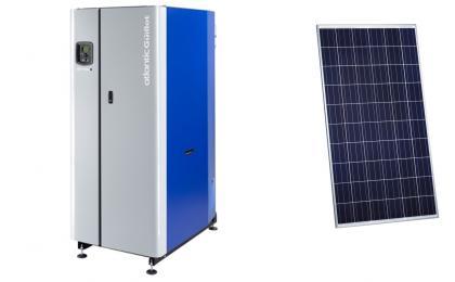 Chaudière collective et photovoltaïque