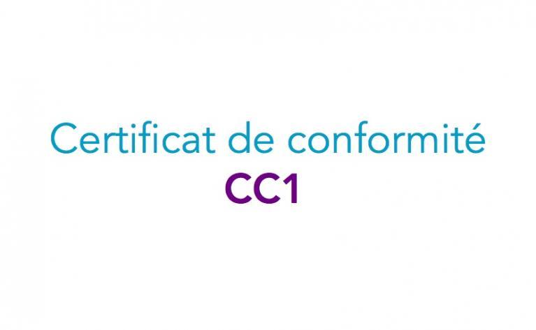 Certificats de conformité modèle 1 - CC1