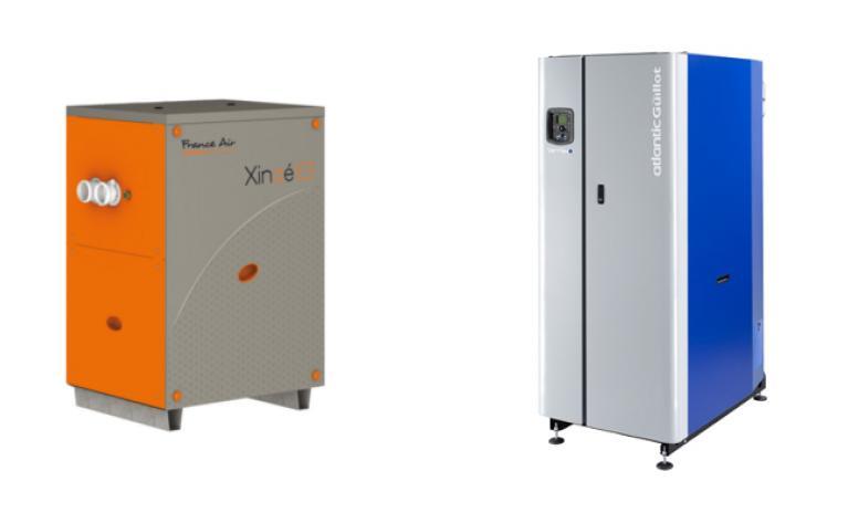 PAC absorption géothermique et Chaudière à condensation