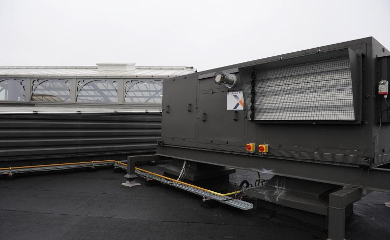 Rooftop adiabatique installé sur le toit