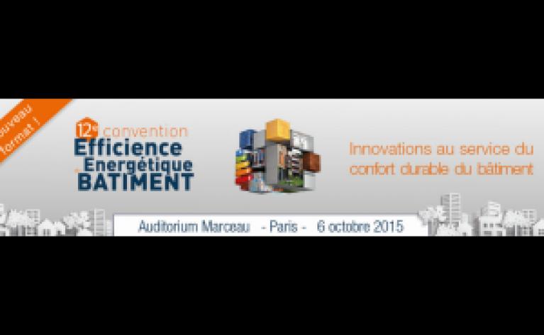 Affiche de la 12ème convention Efficicience Énergétique du Bâtiment
