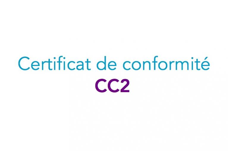Certificats de conformité modèle 2 - CC2