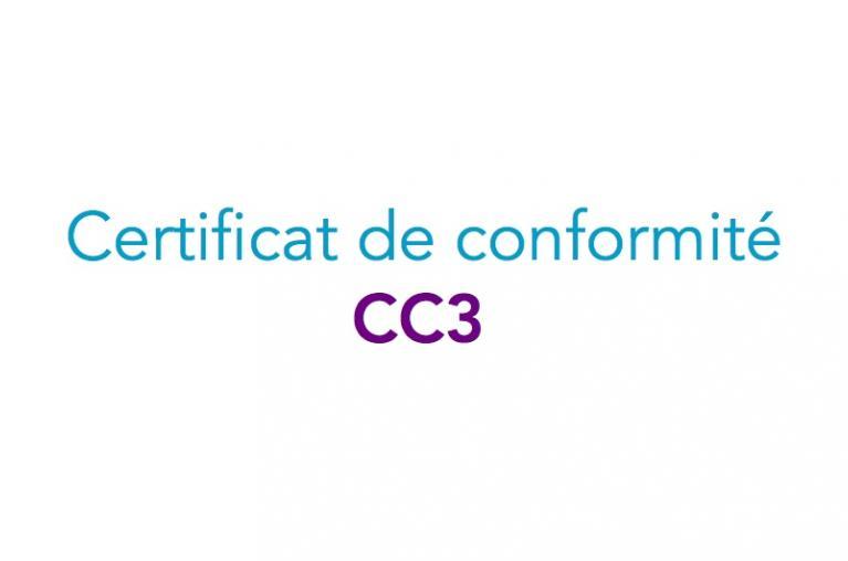 Certificats de conformité modèle 3 - CC3