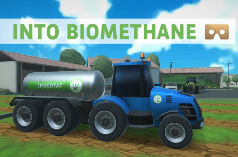 Into biomethane - visuel application