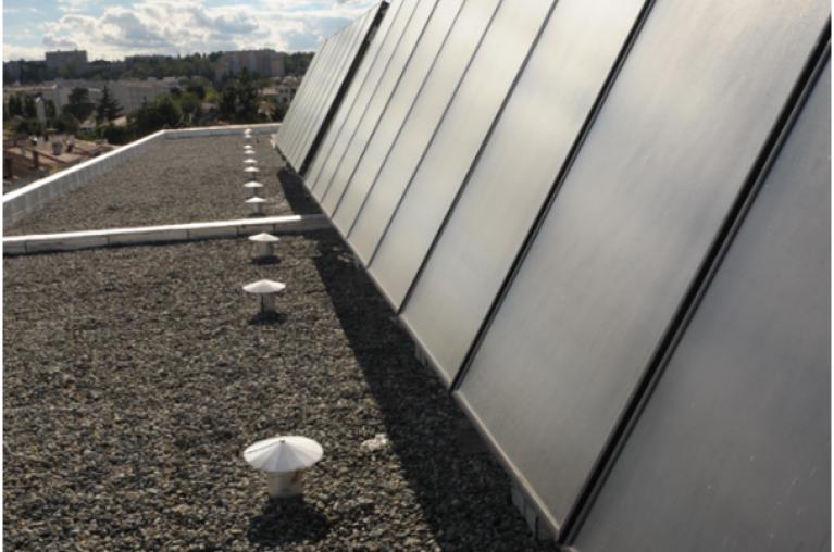 Résidence étudiante La coulée verte - panneaux solaires  -Toulouse 31