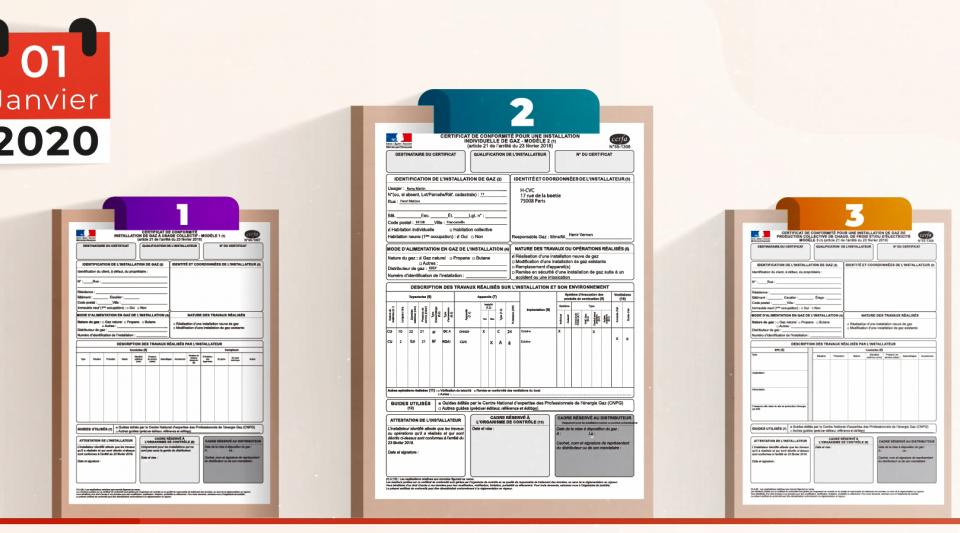Certificats de conformité gaz : quel modèle fournir