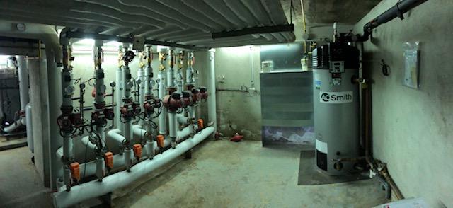 Accumulateur gaz BFC60 de la marque AO Smith en local technique