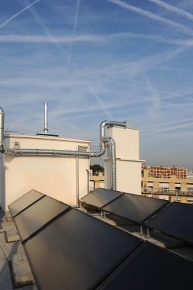 Copropriété Lançon Rungis Paris - Solaire thermique toit terrasse