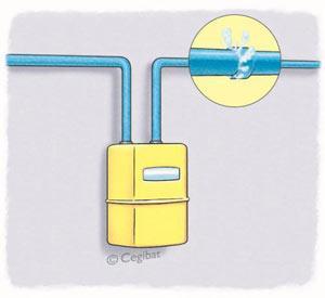 Fuite sur assemblage canalisation gaz