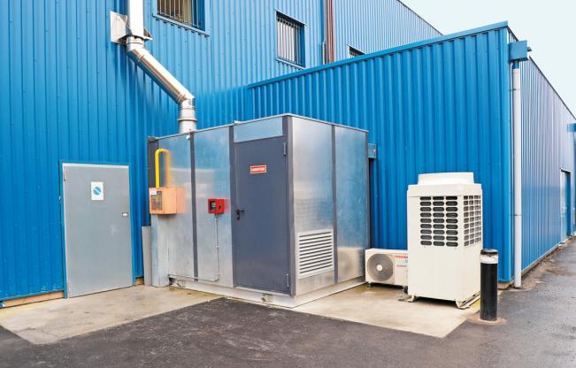 Chaudière gaz à condensation de la chaufferie