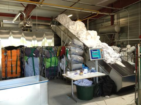 Blanchisserie Brienon - Tapis de pesée en entrée de process