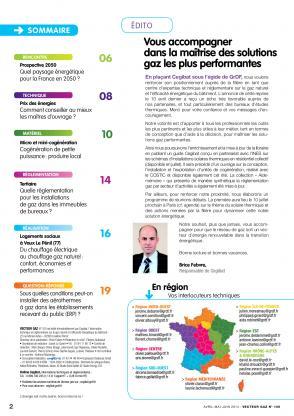 Vecteur gaz 105 - Sommaire-Edito