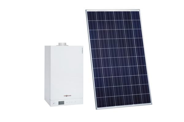 Chaudière à condensation et kit photovoltaïque