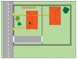 Tuyauterie gaz placée sous une habitation individuelle non desservie par cette installation