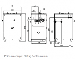 Dimensions d'une PAC géothermique (GS et WS)