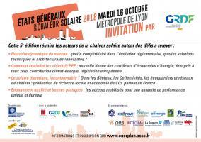 Invitation Etats généraux chaleur solaire 2018