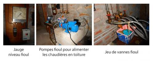 Local pompe de transfert fioul (local annexe – sous-sol)