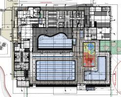 Plan de la façade sud Piscine Vincennes