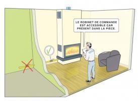 Emplacement du robinet de commande - CEGIBAT