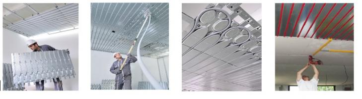 Exemples d'installation du plafond (Source : Innovert)