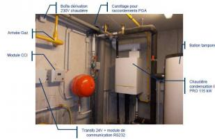 Haguenau – Installation hydraulique présente en chaufferie - CEGIBAT