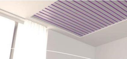 Plafond chauffant sur boucle d'eau (source : Innovert)