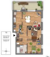 Plan caserne mangin T3 - Cegibat